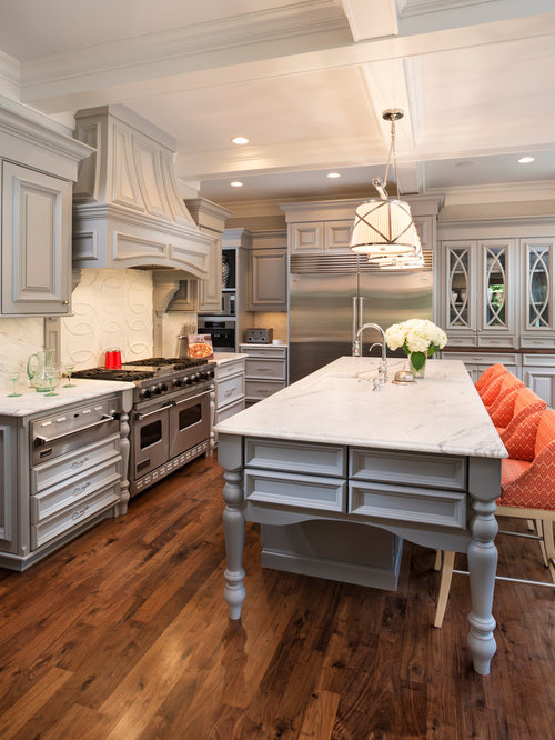 Gray Cabinets Dark Floors Ideas, Pictures, Remodel And Decor