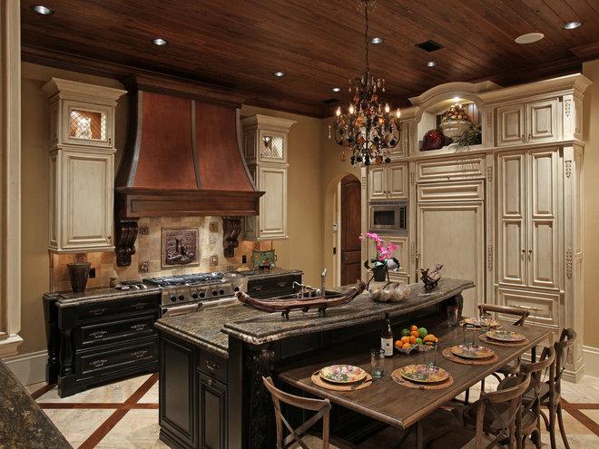Mediterranean Kitchen by Weber Design Group, Inc.