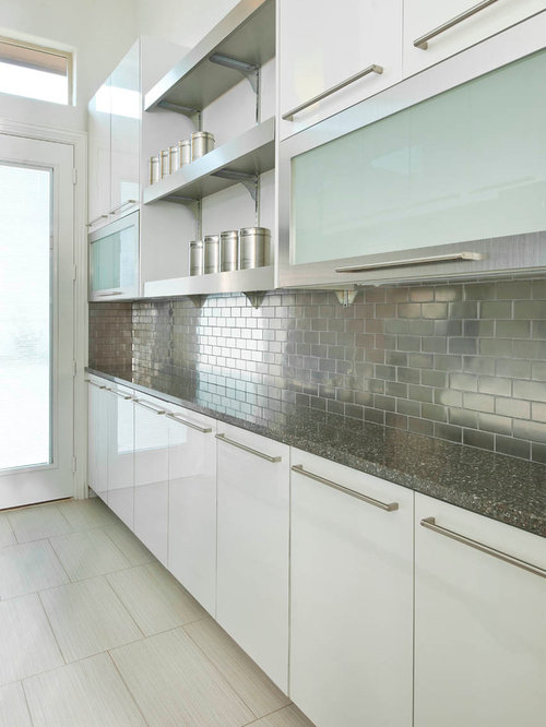SaveEmail - Best Stainless Steel Tile Backsplash Design Ideas & Remodel