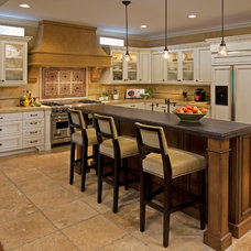 Mediterranean Kitchen by Cindy Smetana Interiors