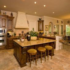 Mediterranean Kitchen by Jim Boles Custom Homes