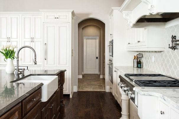 Traditional Kitchen Mediterranean Home West Seattle Waterfront - New Construction