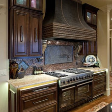 Mediterranean Kitchen by Richard Douglas Cabinets and Trim
