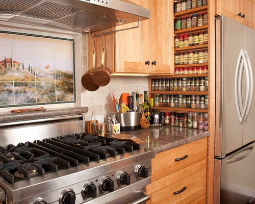 Built In Spice Rack Houzz