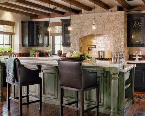 Green Kitchen Island Home Design Ideas, Pictures, Remodel