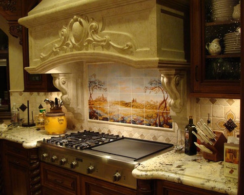 Italian Kitchen Backsplash on transitional kitchen design ideas