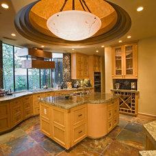 Mediterranean Kitchen by Pinnacle Architectural Studio