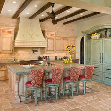 Mediterranean Kitchen by South Coast Architects, Inc.