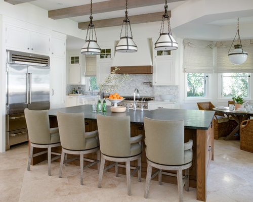 Travertine Flooring With White Cabinets Home Design Ideas, Pictures, Remodel and Decor