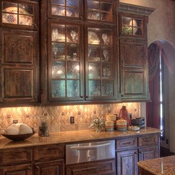 mediterranean style custom kitchen