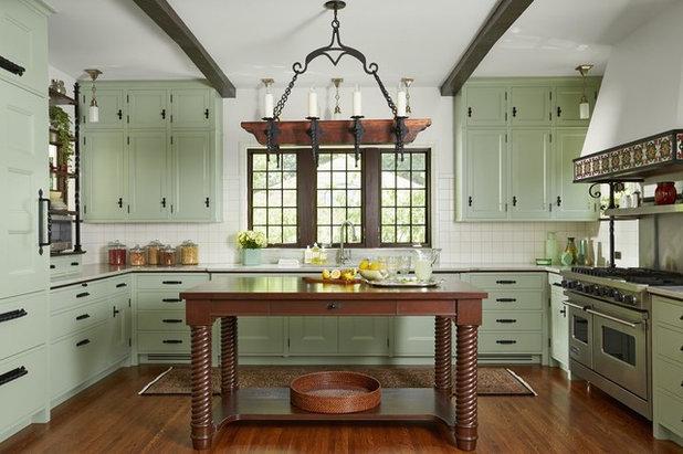 Mediterranean Kitchen by Dovetail Renovation, Inc.