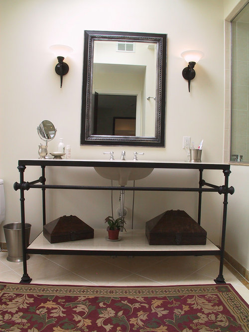 Wrought Iron Vanity Home Design Ideas Pictures Remodel