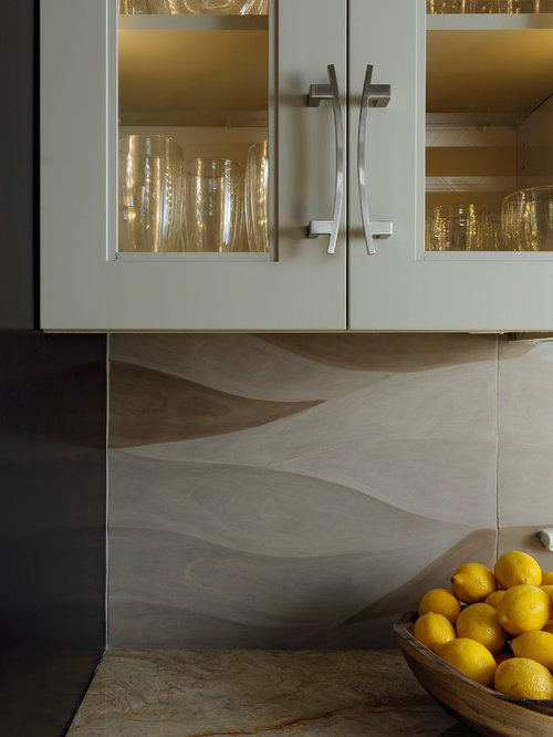 Limestone Tile Backsplash