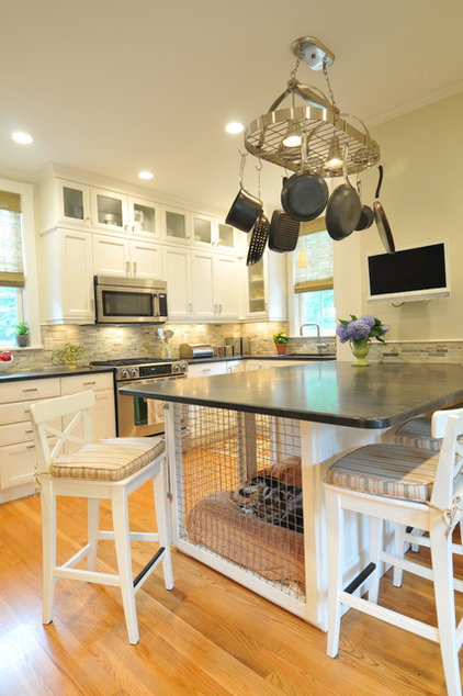 Transitional Kitchen by Betsy Bassett interiors