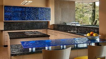 Meltdown Glass Scottsdale Kitchen