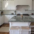 Vintage Blue Galley Kitchen - Traditional - Kitchen - San ...