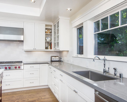 white kitchen cabinets gray granite countertops grey countertops houzz 28784
