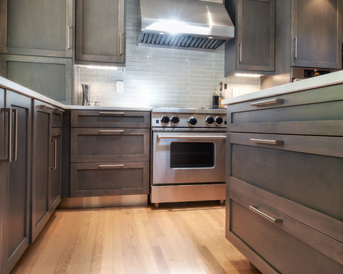 Stained Maple Cabinets Houzz