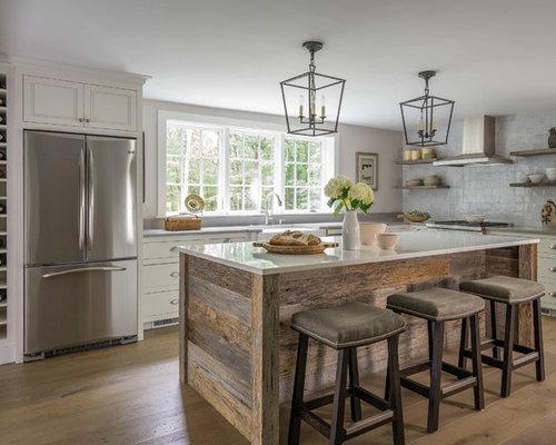 mid sized farmhouse kitchen remodeling mid sized farmhouse l shaped light wood - Farmhouse Kitchen Design Ideas