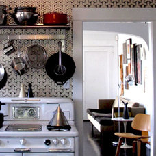 Eclectic Kitchen by Carolina Tazedjian Architecture and Interiors