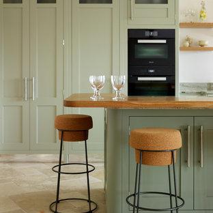 Mersea | Soft Green Beach House Kitchen.