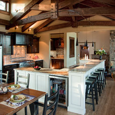 Rustic Kitchen by The Interior Design Group