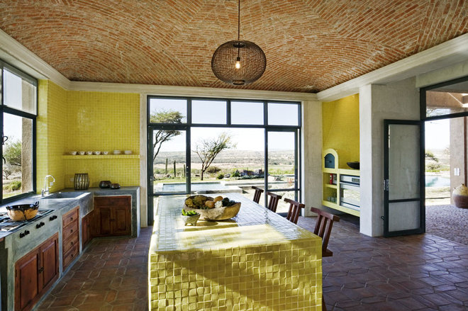 Mediterranean Kitchen by David Howell Design