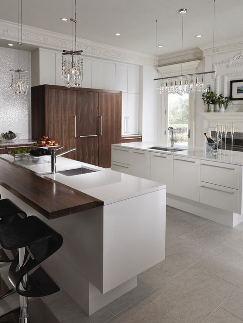 Inspiration For A Contemporary Kitchen Remodel In St Louis With An  Undermount Sink, Flat