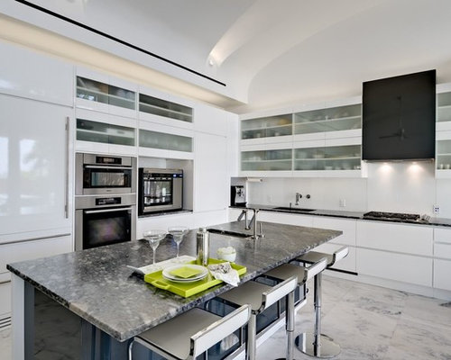 White Flat Panel Cabinets Ideas, Pictures, Remodel and Decor