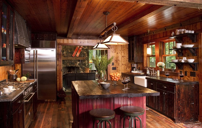 rustic kitchen by Michelle Fries, BeDe Design, LLC