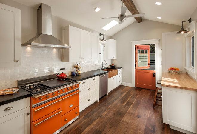 Transitional Kitchen by Blackbird Architects