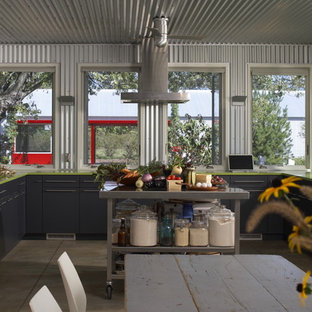 Urban kitchen photo in Chicago with stainless steel appliances