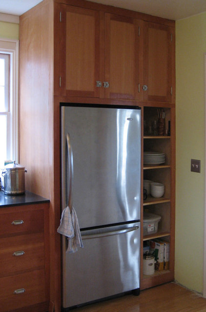 Get The Look Of A Built In Fridge For Less Via Houzz Com