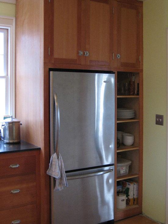Kitchen Cabinets Around Fridge cabinets around refrigerator | houzz