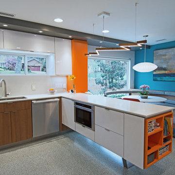 Mid-century inspired custom Modern Kitchen