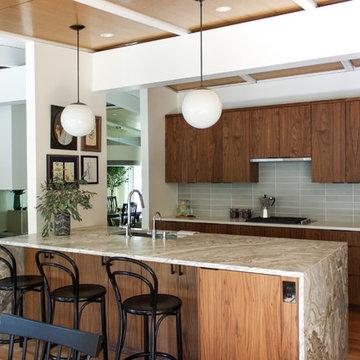 mid-century interior remodel