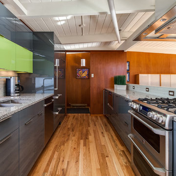 Mid Century Kitchen Updated to Modern in this Remodel in Denver Colorado