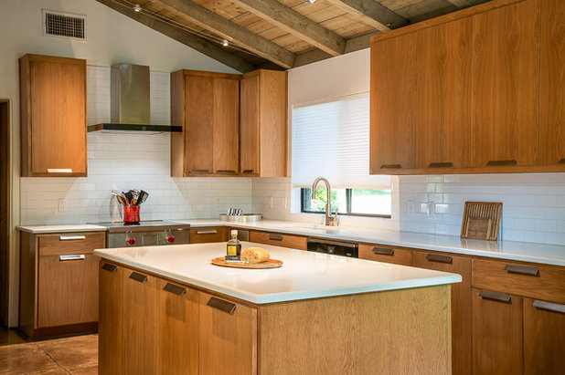 Midcentury Kitchen by Just the Thing Decorating, Staging, and Windows