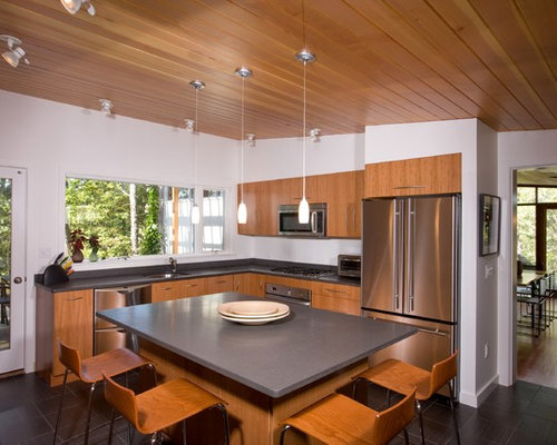 Wood Plank Ceiling | Houzz