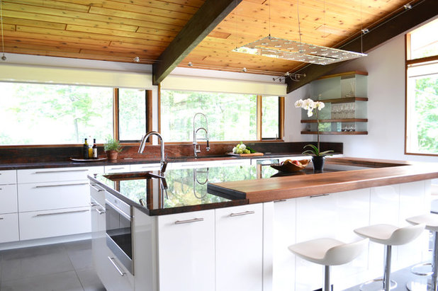 Midcentury Kitchen by d.schmunk interior design services