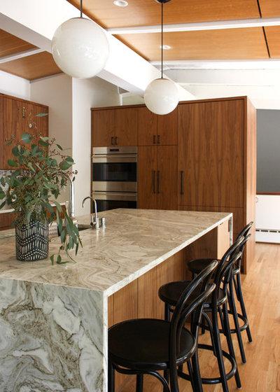 Midcentury Kitchen by Bonnie Wu Design, LLC