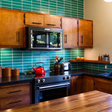 Mid-Century Modern Kitchen Backsplash