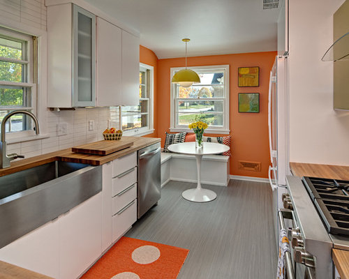 Midcentury modern kitchen houzz for Mid century modern kitchen cabinets