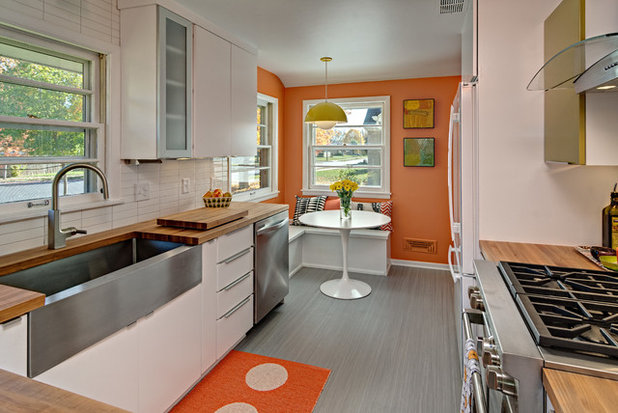 Midcentury Kitchen by Christine Nelson Design