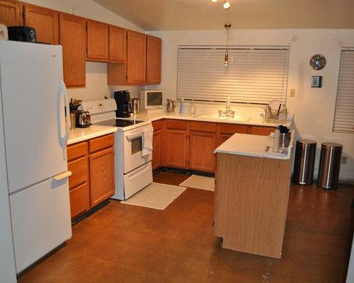 kitchen backsplash and light oak wood kitchen cabinets