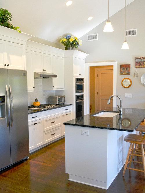 Houzz | 50+ Best Midcentury Modern Charlotte Open Concept Kitchen ...