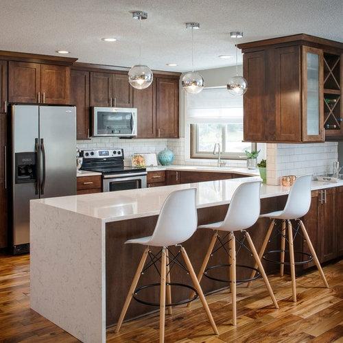 mid century modern kitchen cabinets. Mid sized midcentury modern kitchen ideas  Inspiration for a mid 25 Best Midcentury Modern Kitchen Ideas Designs Houzz