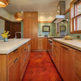 Mid Century Monochromatic Kitchen
