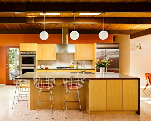 our 11 best kitchen with terrazzo floors ideas & remodeling photos ... - Terrazzo Kitchen Sinks