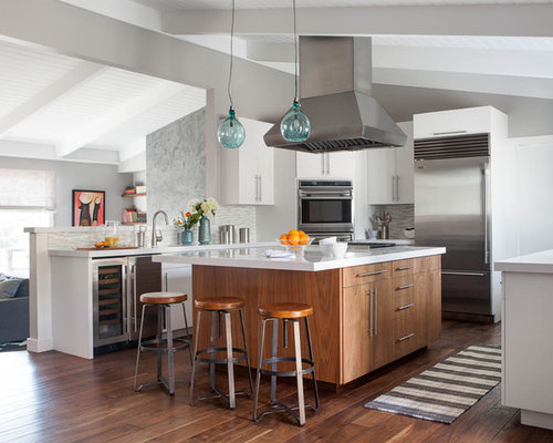 Medium Wood Cabinets Home Design Ideas Pictures Remodel
